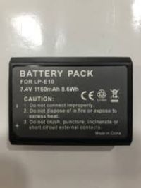 2 x CANON EOS 1100D LPE10 DIGITAL CAMERA REPLACEMENT BATTERY