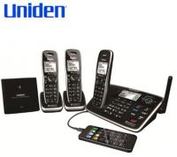 UNIDEN XDECT 8155+2 1.8GHZ DIGITAL CORDLESS PHONE 3 HANDSETS