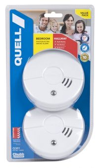 2 x Smoke Alarm Fire Detector Quell Photoelectric Worry Free Int