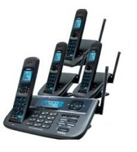 UNIDEN XDECT R055+3 CORDLESS PHONE 1.8GHZ DIGITAL